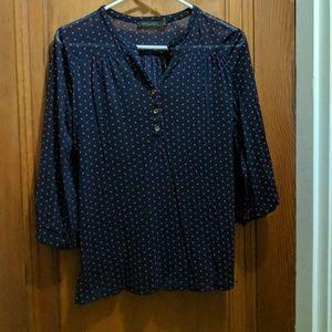 Limited polkadot mesh shirt